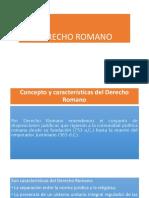 DERECHO ROMANO Primera Presentación