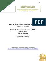 Manual de Elaboração, Gestão e Avaliação de Projetos Sociais