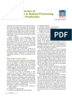 A General Overview of Developments in Subsea Processing in O&G Production