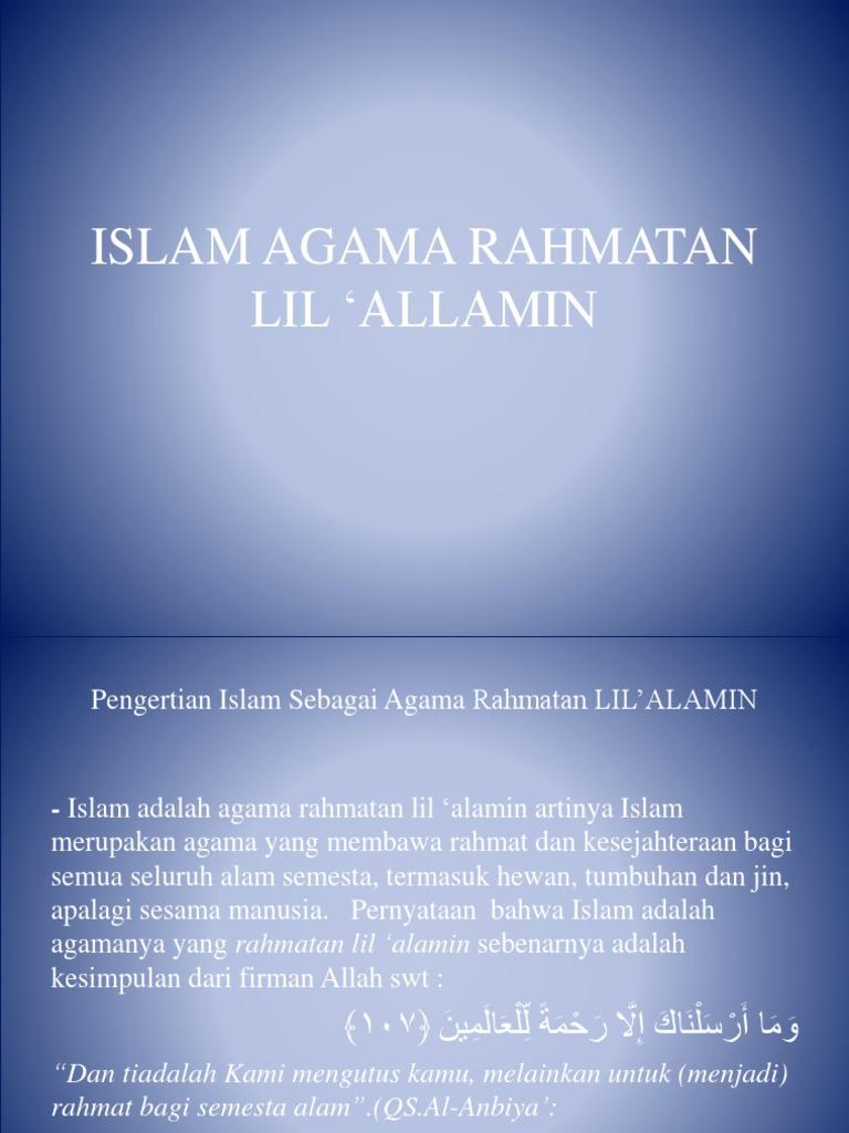 Islam Agama Rahmatan