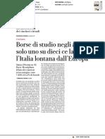 Borse di studio negli atenei, solo uno su dieci ce la fa. L'Italia lontana dall'Europa - La Repubblica del 16 marzo 2018