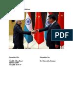 Trade Betwen India and China - Manish Chaudhary