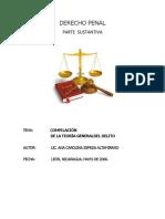 Aspectos de Derecho Penal Sustantivo