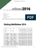 Ránking Multilatinas 2016 _ AméricaEconomía