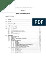 Specifications Asphalt Concrete