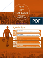 City of Business Man PowerPoint Template