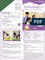 Programme Brochure 2018-19 MSc(Audiology)