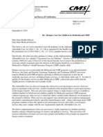 HHS Letter to State Medicaid Directors on Hospice Care for Children in Medicaid and CHIP