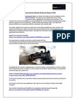 Locomotives Market to Record an Impressive Growth Rate during Forecast 2018-2023