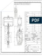 Drawing Single Actuator Cast Iron Valve 4''Flowball Inc