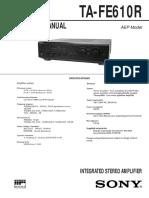 Sony Ta Fe610r Manual
