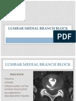 4 Lumbar Median Branch Block