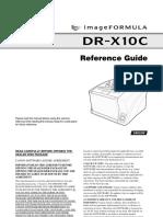 Canon Imageformula Dr-x10c Reference Manual