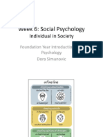 Week 6 - Social Psychology - Group Processes