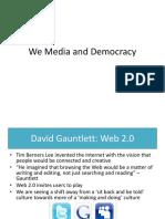 we media and democracy - web 2