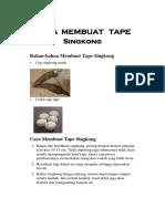 Cara Membuat Tape