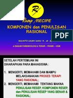 Resep Penulisan & Komponen - Revised 032018