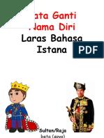 Kata Ganti Nama Laras Istana