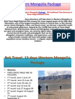 Western Mongolia Package