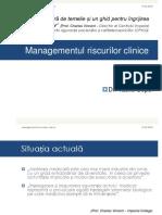 Managementul Riscurilor Clinice Curs Studenti