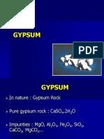 2. gypsum
