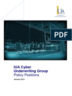 011_Cyber Underwriting Group - Policy Positions