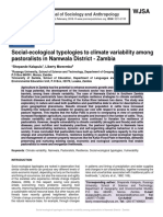 Social-ecological typologies to climate variability among pastoralists in Namwala District - Zambia