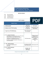 Drafr Agenda for the 25th ECRB Customer Working Group