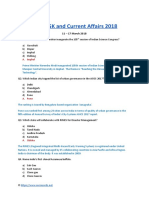 Latest GK March 11 to 17 2018 Current Affairs PDF Download