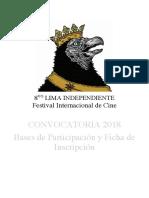 LIFIC08 Convocatoria Inscripción 2018Esp 1