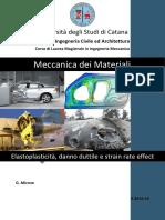 1) DISPENSA CM2 Elastoplasticità - Danno - Strain Rate R 2016-10