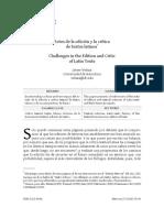 Minerva 2014 Velaza Retos en La Edicion y Critica Textos Latinos