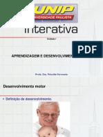 Aprendizagem e Desenvolvimento Motor Sld_1
