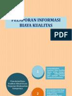 Pelaporan Informasi Biaya Kualitas