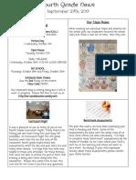 boucher september 25 2017 4th grade newsletter