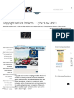 Copyright and Its Features