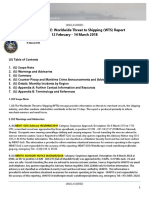 U. S. Navy Office of Naval Intelligence  Worldwide Threat to Shipping (WTS) Report 12 February - 14 March 2018