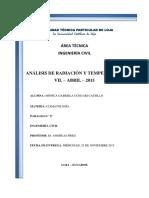 Analisis Radiacion Temperatura