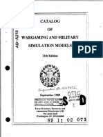 Catalog of Wargaming and Military Simulation Models_1989