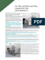 Process Validation - IQ, OQ, PQ