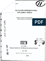 Human Factors Representations for Combat Models