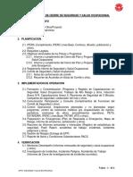 Indice Del Dossier de Cierre de Seguridad y Salud Ocupacional