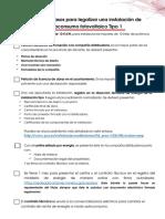 Checklist Legalizaci n