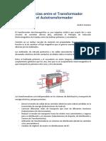 Transformador vs Autotransformador