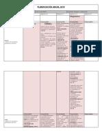Planificación Anual Lenguaje 6 2018