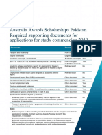 Documents Requirements Pakistan Australia Awards Scholarships 2019