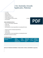 CV Template Pakistan