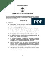 Convocatoria Eleccion Secretario Del TJCA