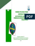 Pedoman Pelayanan Publik Sertifikasi Produksi Alkes Dan PKRT