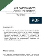 Ensayo de Corte Directo (Cu)
